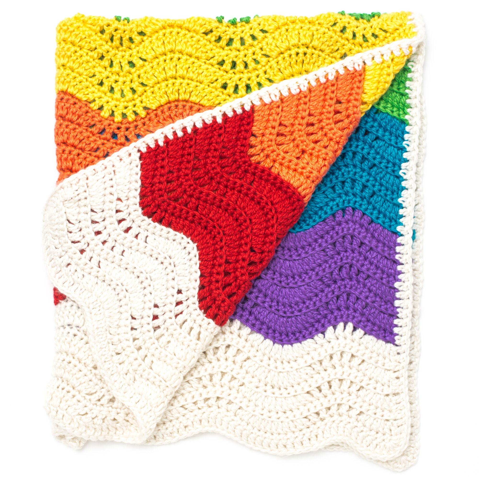Bernat End of the Rainbow Blanket | Yarnspirations