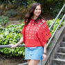 Red Heart Clementine Chic Sweater, XS in color