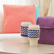 Red Heart Zigzag Crochet Cup Cozy, Royal