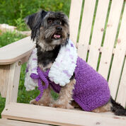 Red Heart Purpleicious Dog Coat, S