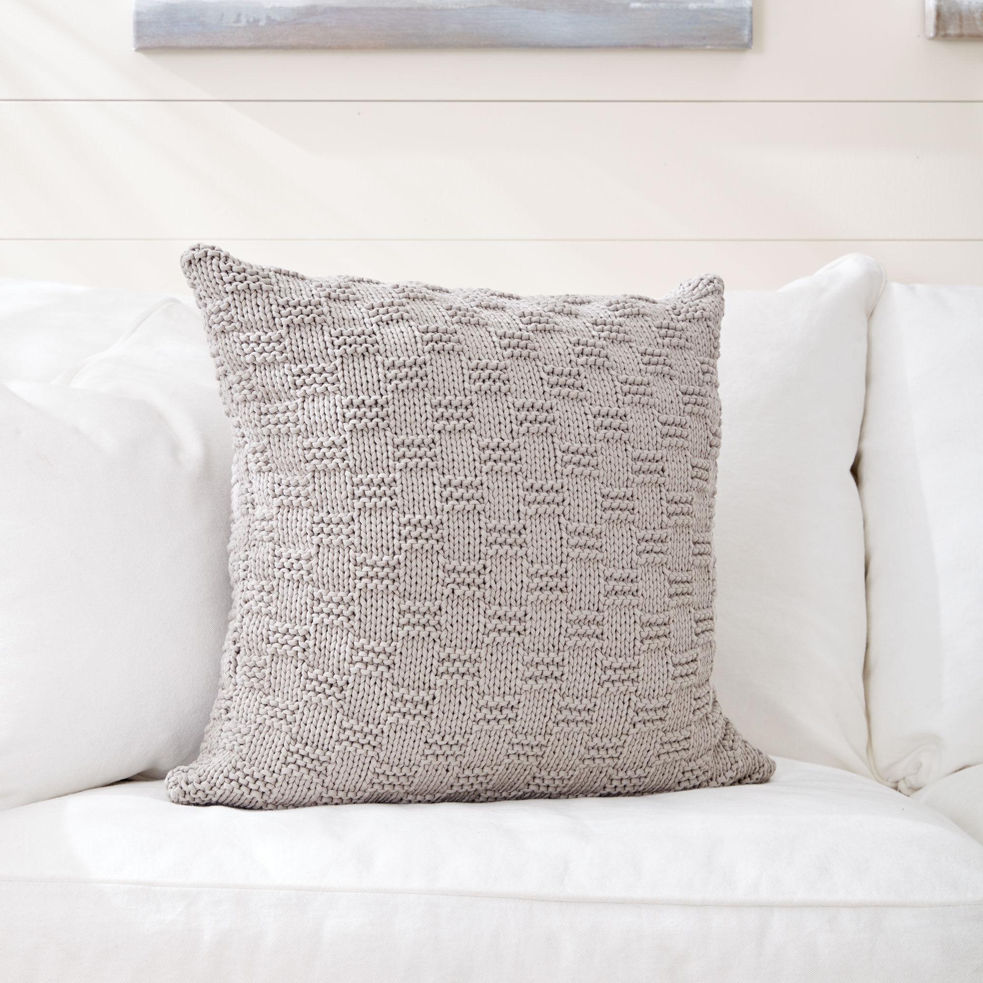 Bernat Beachside Knit Pillow | Yarnspirations