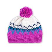 Go to Product: Bernat Family Knit Child Fair Isle Hat, Version 1 - Size 2 in color