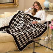Red Heart Houndstooth Throw