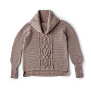 Go to Product: Red Heart Entwined Chic Cable Sweater, XS in color