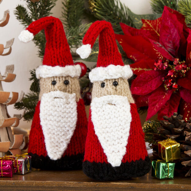 Red Heart Santa Gnome Ornaments