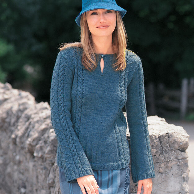 Patons Keyhole Tunic, XS in color