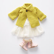 Bernat Taking Sides Crochet Cardigan, 6 mos