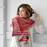 Red Heart Crochet Sunset Mitered Shawl