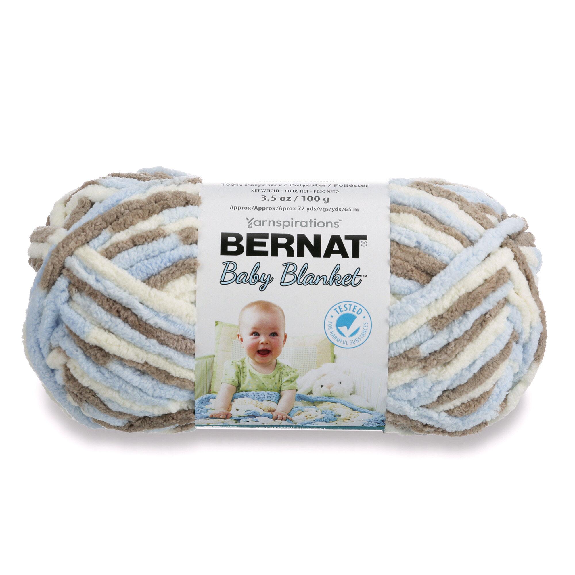 Bernat Baby Blanket Yarn  3.5 oz  100 grams  72 yards BABY DENIM