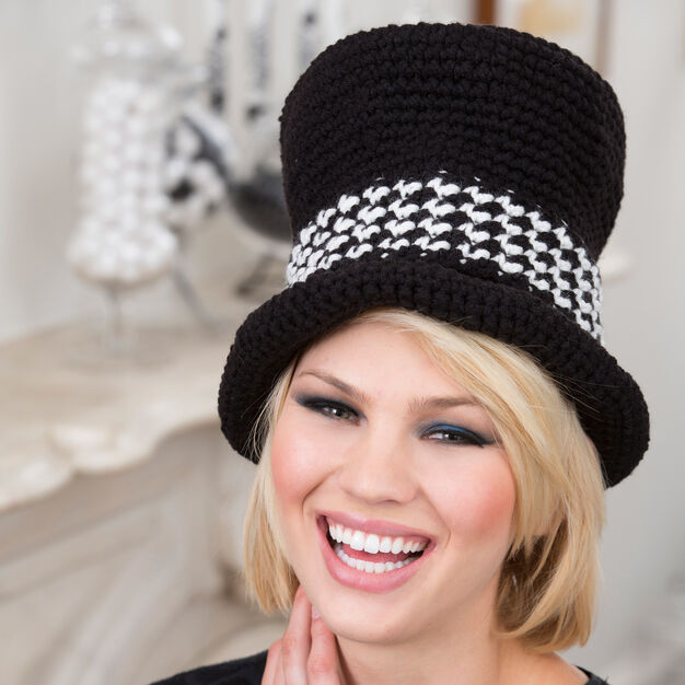Red Heart Top Hat Sophisticate in color