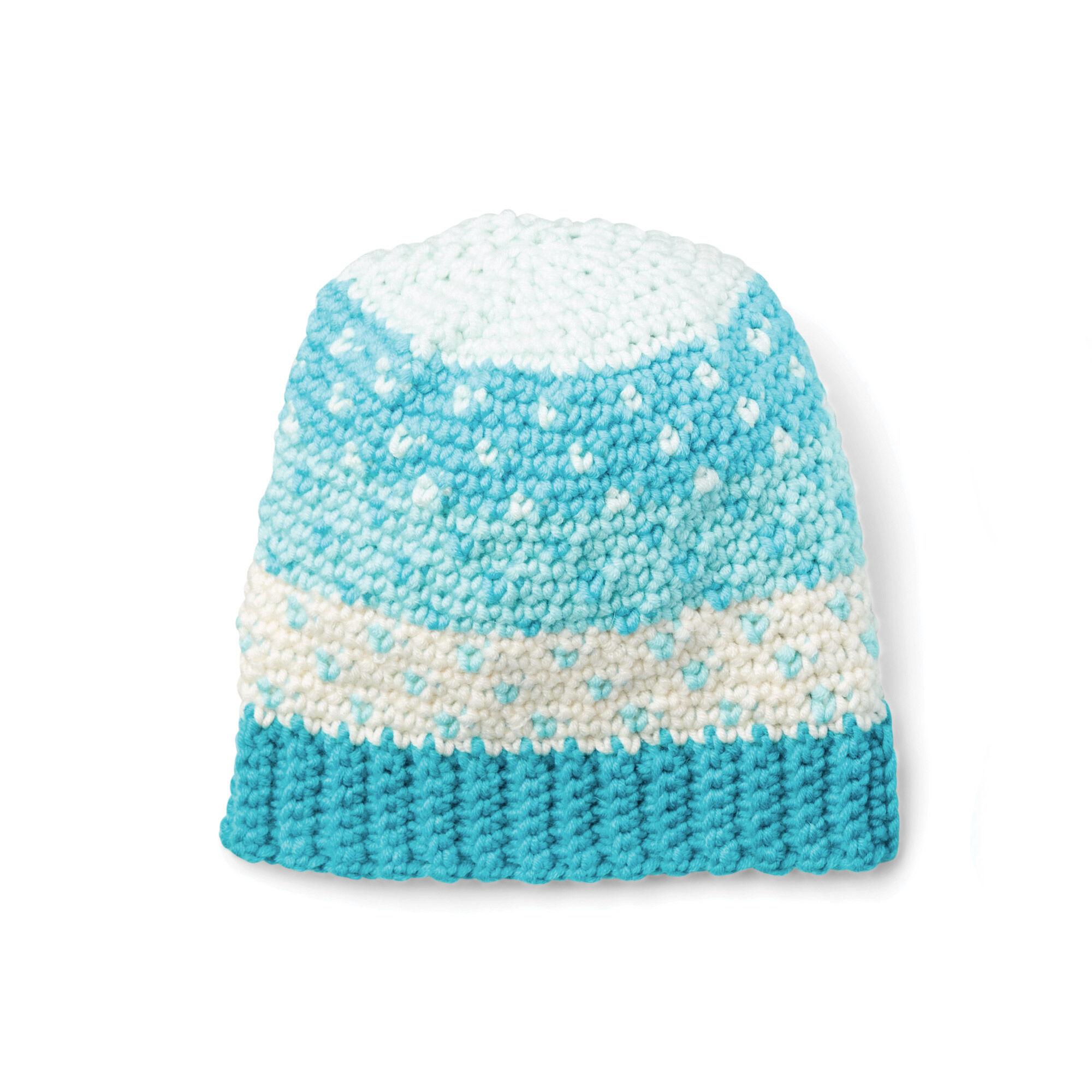 Caron x Pantone Crochet Fair Isle Hat Free Pattern  98a5d2ea82f