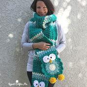 Bernat Owl Crochet Super Scarf