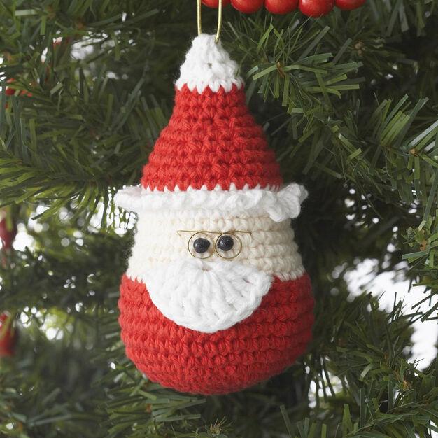 Lily Sugar 'n Cream Santa Ornament
