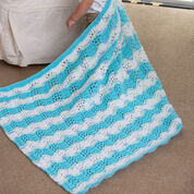Red Heart Baby Boy Chevron Blanket