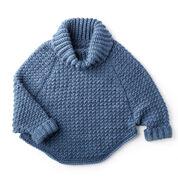 Bernat Woman's Curvy Crochet Cowl Pullover, XS/S/M
