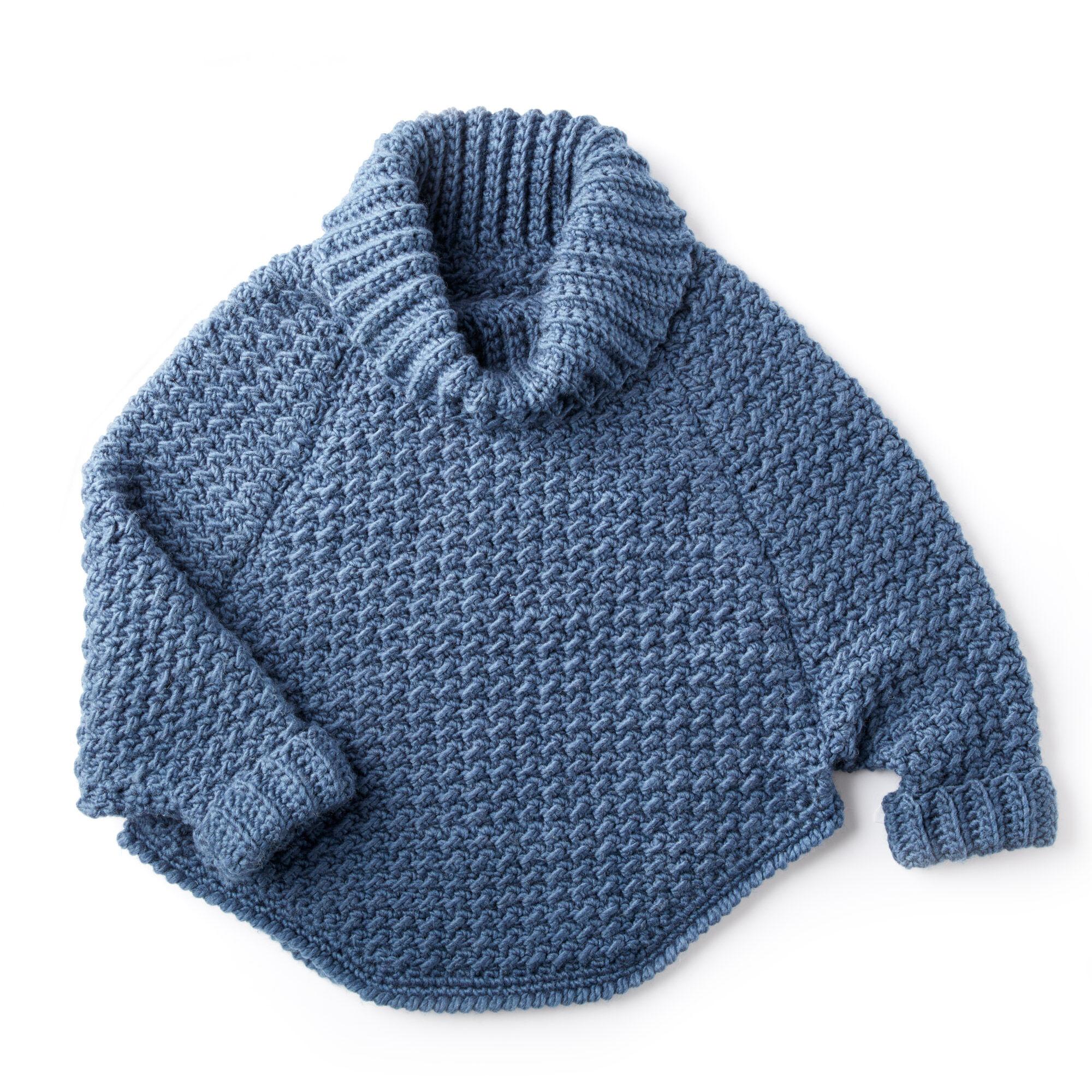 Bernat Women S Curvy Crochet Cowl Pullover Xs S M Pattern