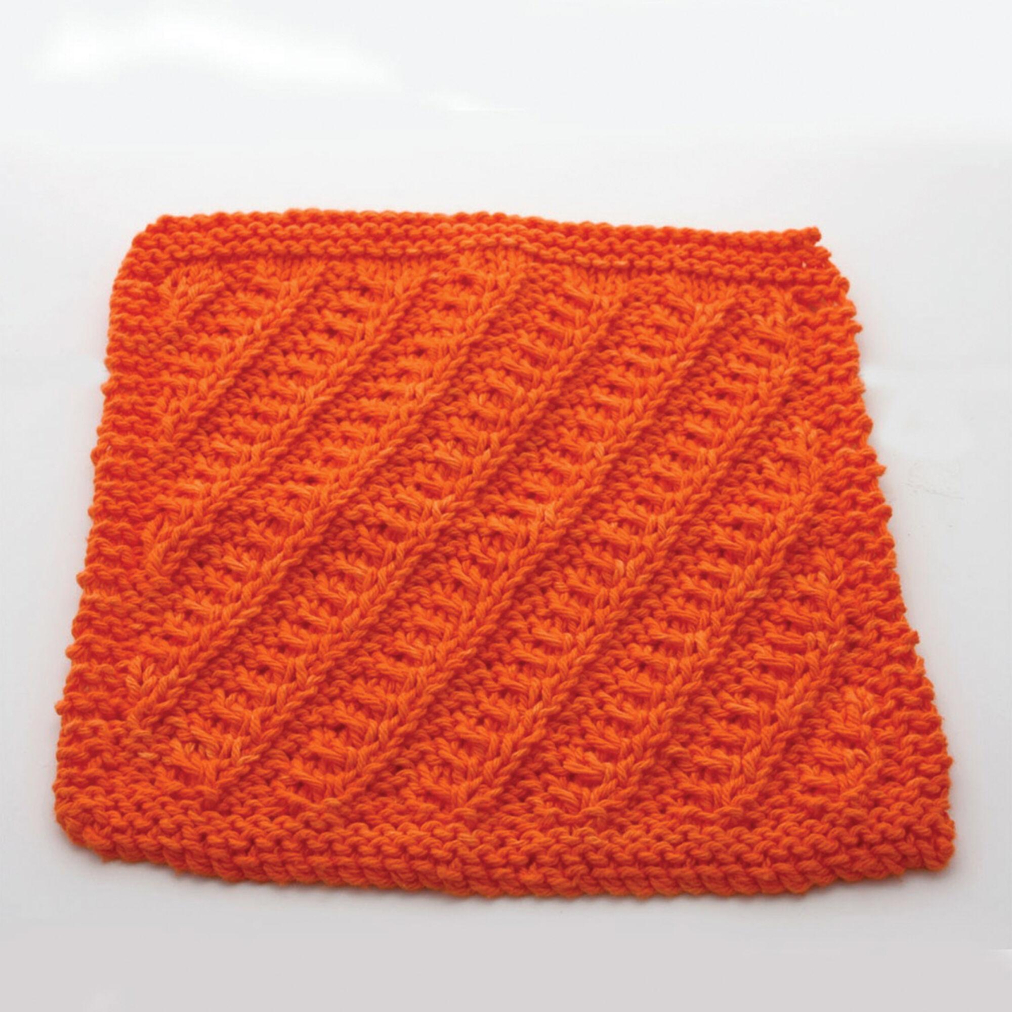 Lily Sugar\'n Cream Diagonal Stitch Dishcloth, Yellow | Yarnspirations