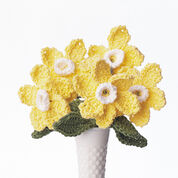 Lily Sugar'n Cream Daffodil Crochet Bouquet