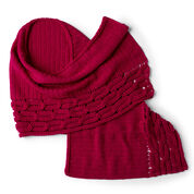 Red Heart Interwoven Cabled Chic Shawl, Scarf