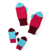 Go to Product: Red Heart Colorblock Family Knit Mittens, 2/4 yrs in color