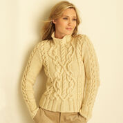 Bernat Cable Sweater, XS/S