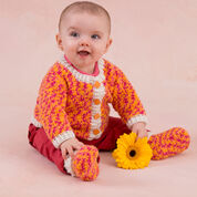 Go to Product: Red Heart Happy Girl Cardigan and Booties, 0/3 mos in color