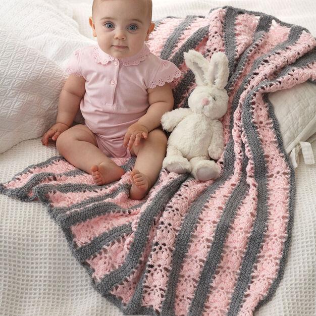 Bernat Lacy Stripes Blanket