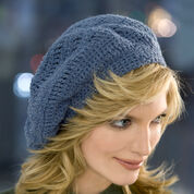 Red Heart Track Stitch Beret, S