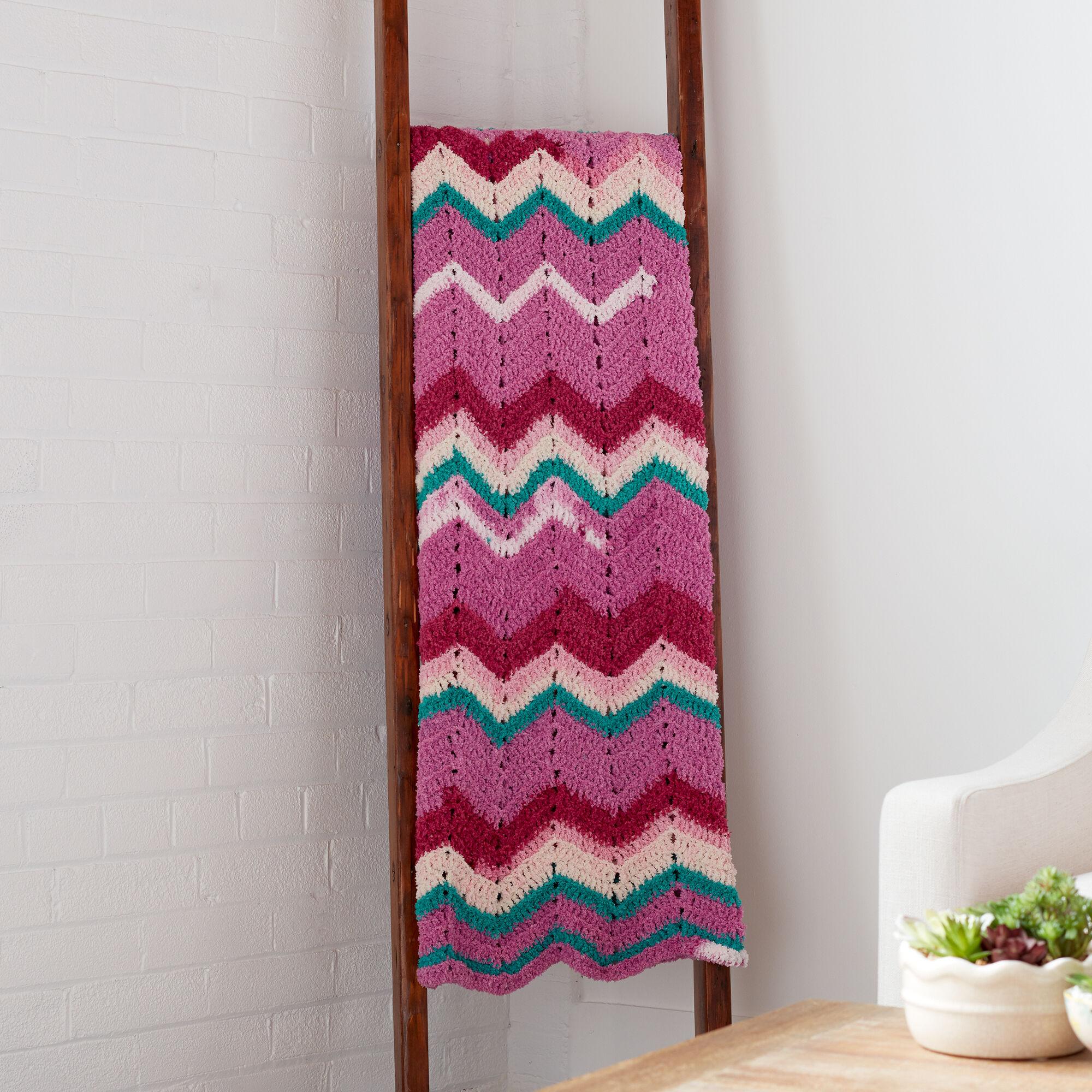 Bernat Chevron Breeze Crochet Afghan Pattern   Yarnspirations