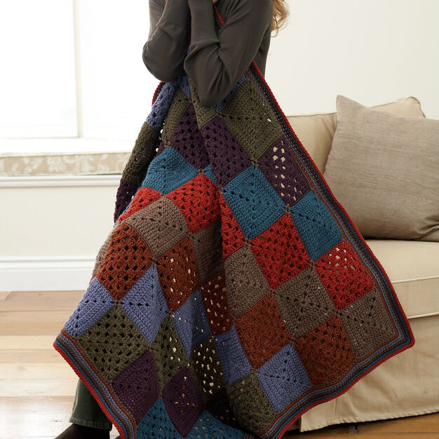 Bernat Granny Afghan in color