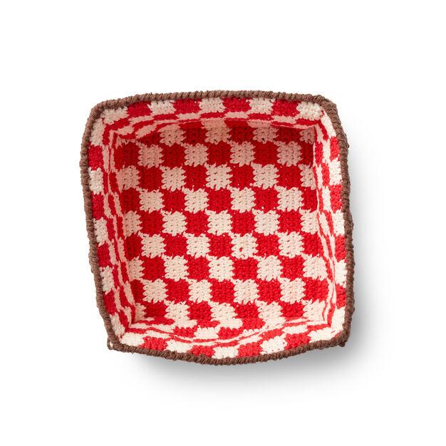 Lily Sugarn Cream Crochet Pic A Nic Basket Pattern Yarnspirations