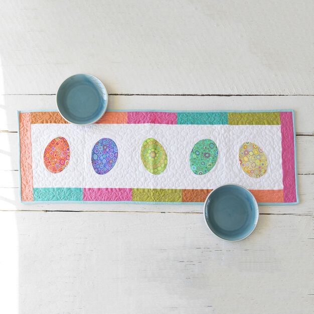 Coats & Clark Easter Egg Table Runner with Applique in color