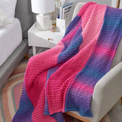 Red Heart Dynamic Knit Ombre Throw