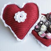 Red Heart Crochet Box of Chocolates