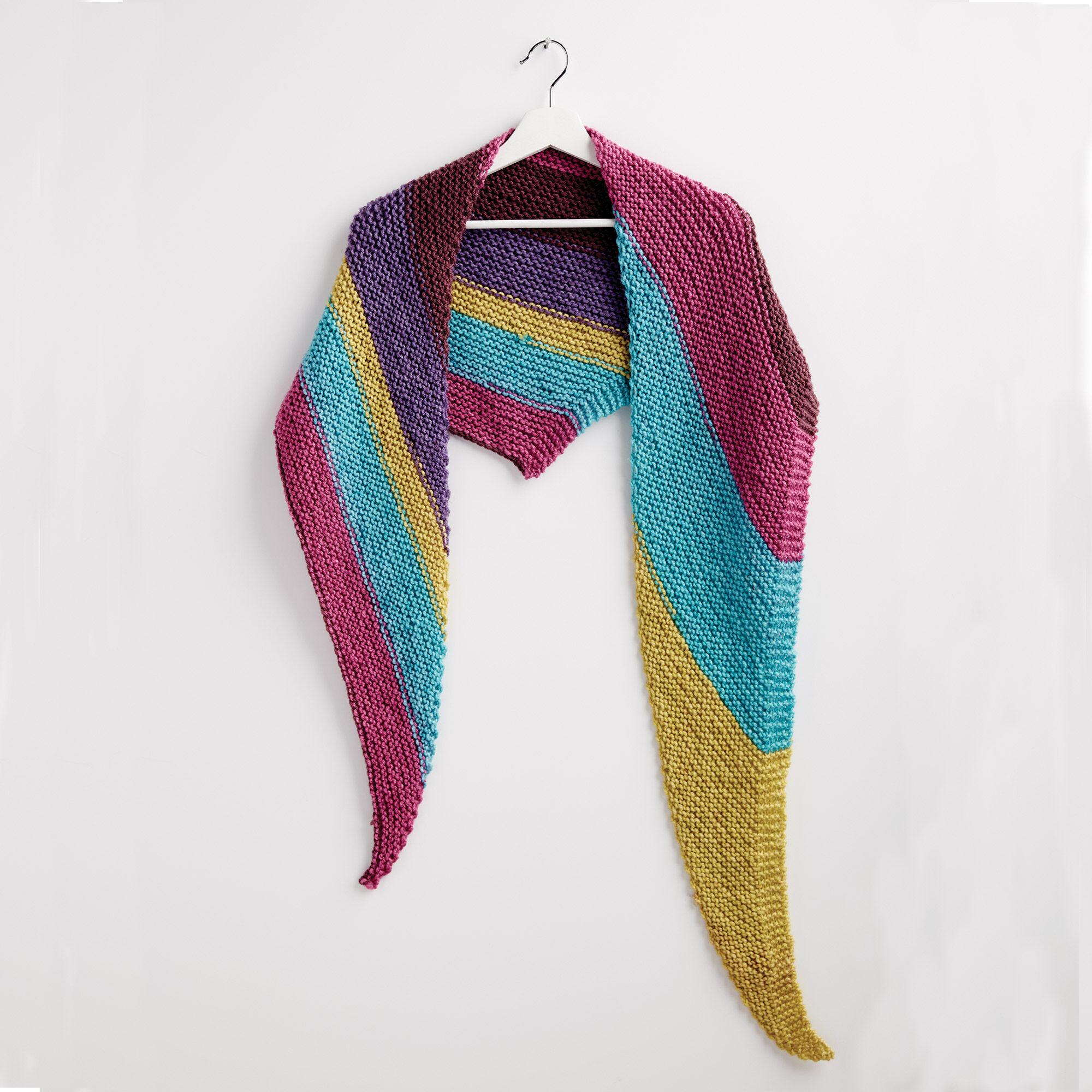 Bernat Knit Triangle Shawl | Yarnspirations