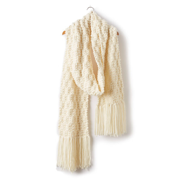 Free Pattern: Rib Check Knit Super Scarf in Bernat Wool Up Bulky yarn