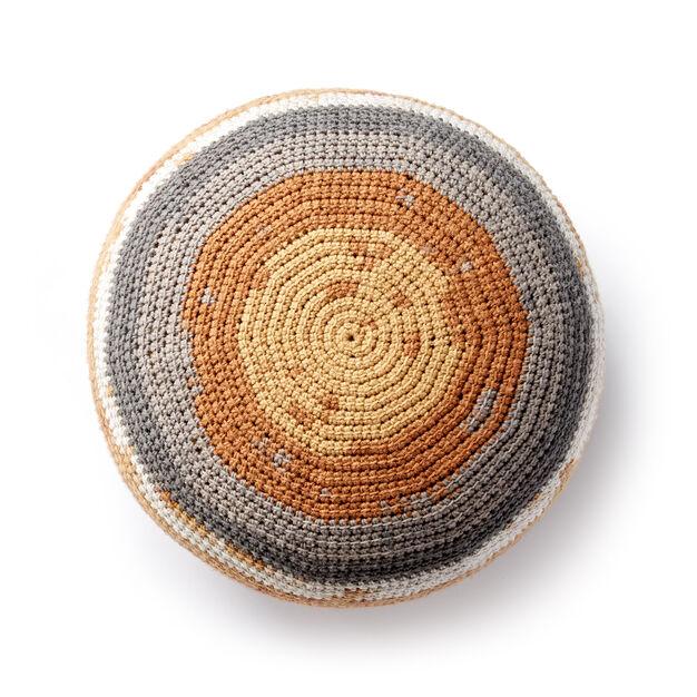 Caron Crochet Pouf Pattern Yarnspirations