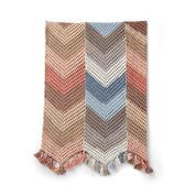 Caron Chevron Stripes Crochet Blanket