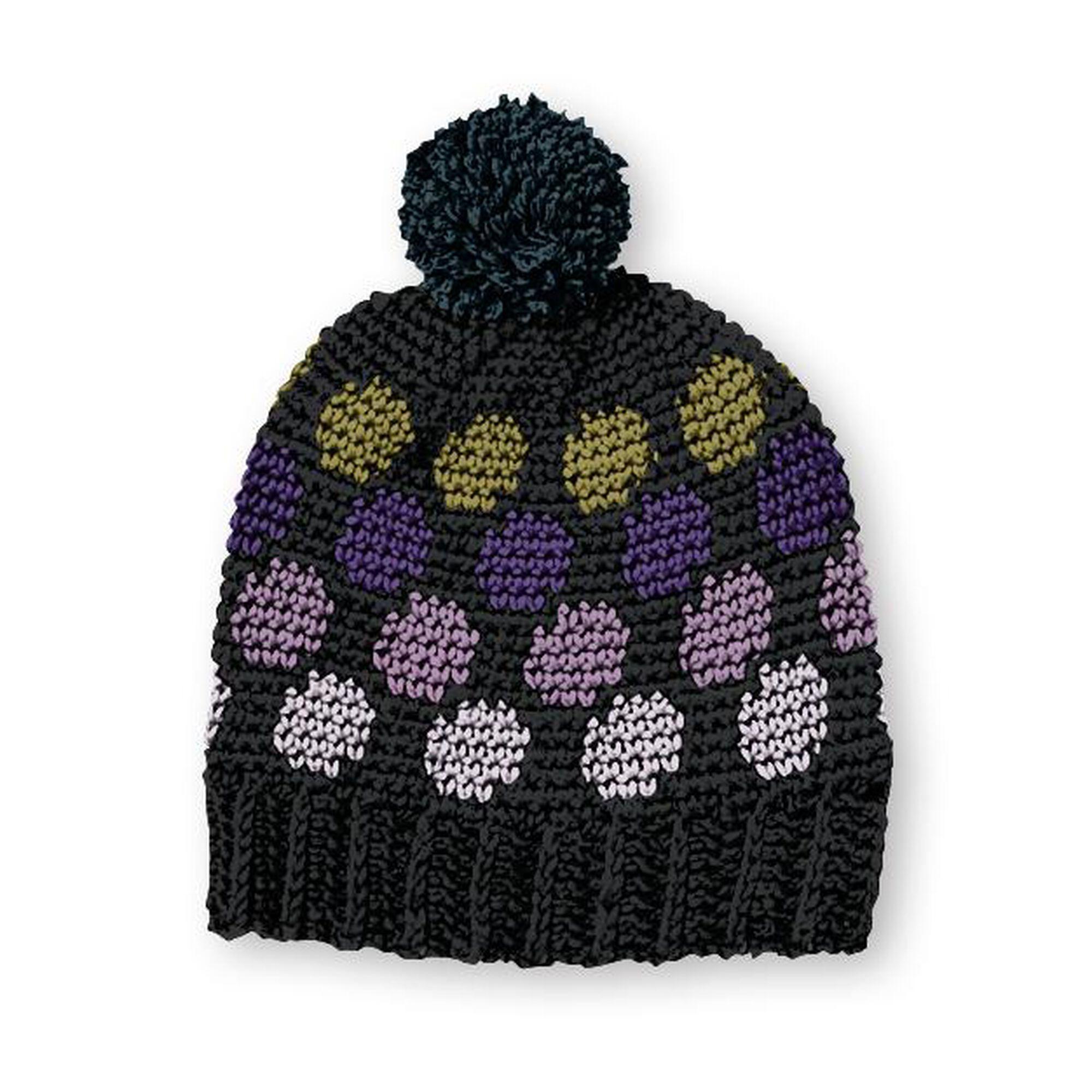 Caron X Pantone Polka Dotty Crochet Hat Pattern Yarnspirations