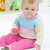Red Heart Keep em Cozy Pullover, 9 mos