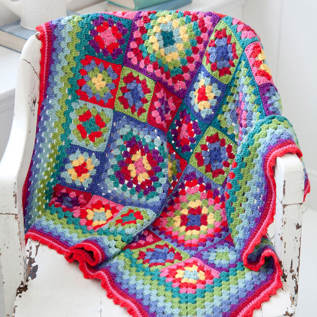 Red Heart Blanket Statement in color