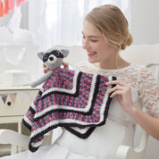 Red Heart Raccoon Crochet Lovey