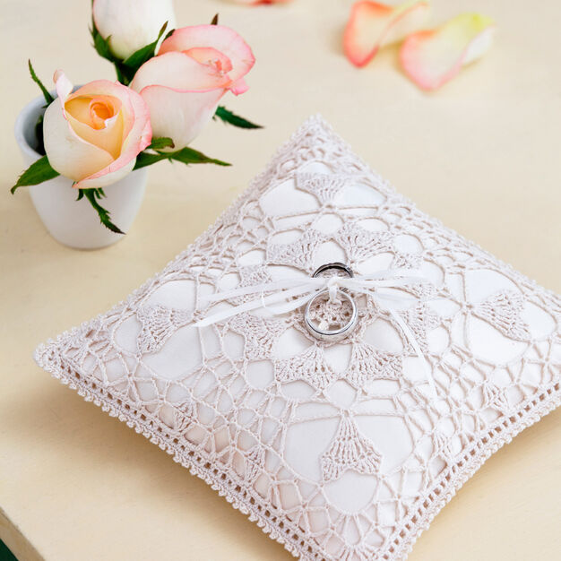 Aunt Lydia's Heart's Desire Ring Bearer Pillow in color