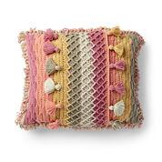 Caron Crochet Tasseled Pillow