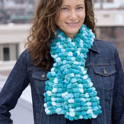 Red Heart Pomp-a-Doodle 1 Ball Scarf