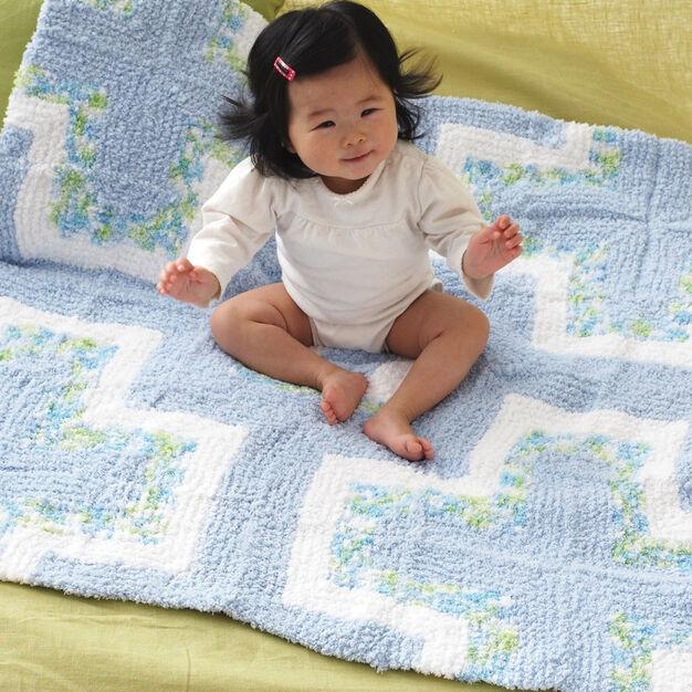 Bernat Mitered Baby Blanket in color