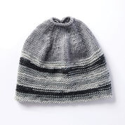 Caron Messy Bun Knit Hat