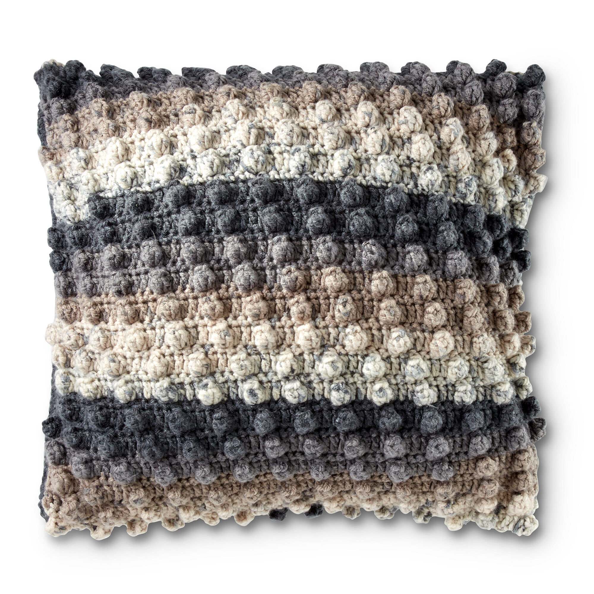 Caron Crochet Popcorn Pillow Pattern | Yarnspirations