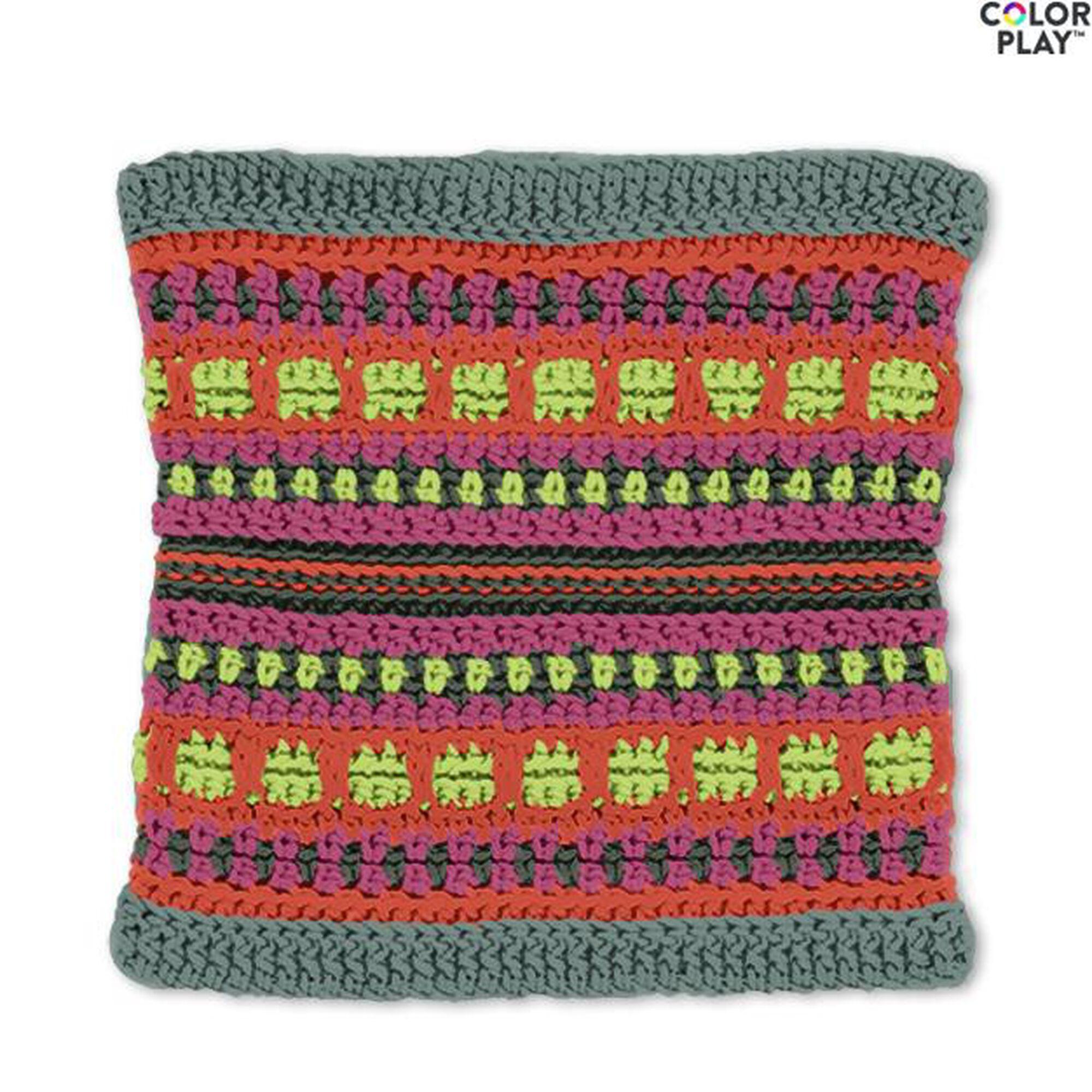 Caron X Pantone Color Block Crochet Cowl Free Pattern Yarnspirations