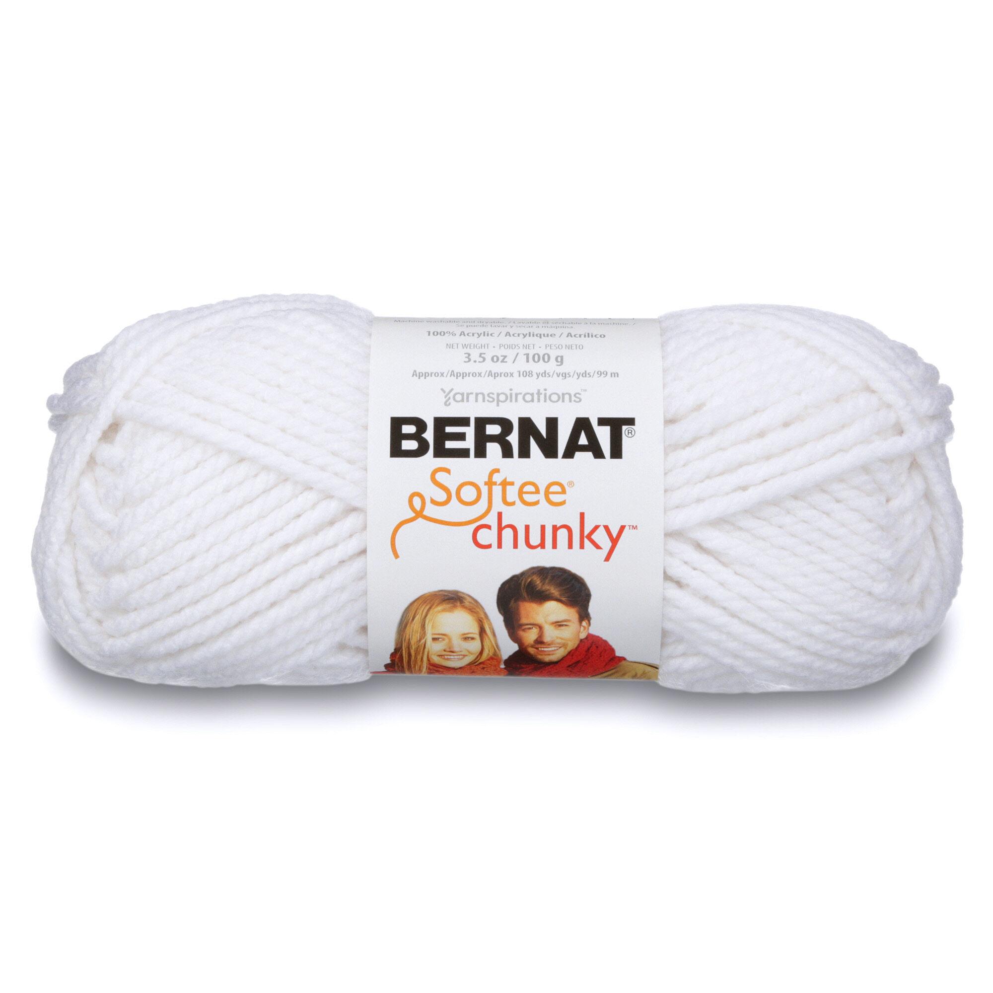 Bernat Big Ball Chunky Solid Yarn 14 Ounce Single Ball Grey Ragg